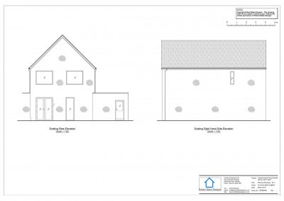 8 Sparrowhawk Way - Existing Elevation 2