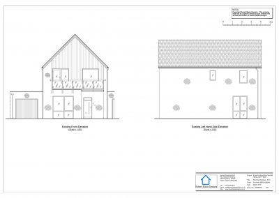 8 Sparrowhawk Way - Existing Elevation
