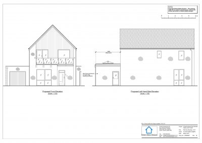 8 Sparrowhawk Way - Proposed Elevation